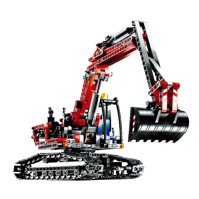 20025 Genuine Technic Series Red Engineering Excavator Set Building Blocks Bricks Legoings Educational Toys Boys Children Gift