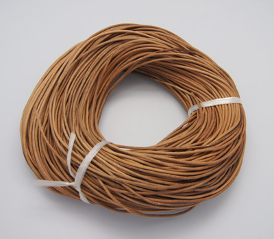 Cowhide Leather Cord, Leather Jewelry Cord, Peru, Size: about 2mm in diameter, 100m/bundleCowhide Leather Cord, Leather Jewelry Cord, Peru, Size: about 2mm in diameter, 100m/bundle
