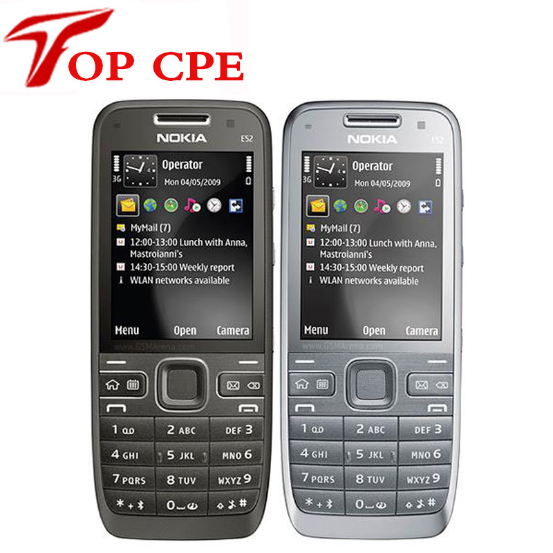 Original E52 Nokia Mobile Phone Bluetooth WIFI GPS 3G Cell Phone Russian Keyboard in Stock Refurbished