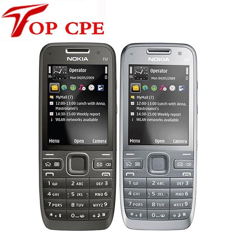 Original e52 nokia mobile teléfono bluetooth wifi gps 3g del teléfono celular ru