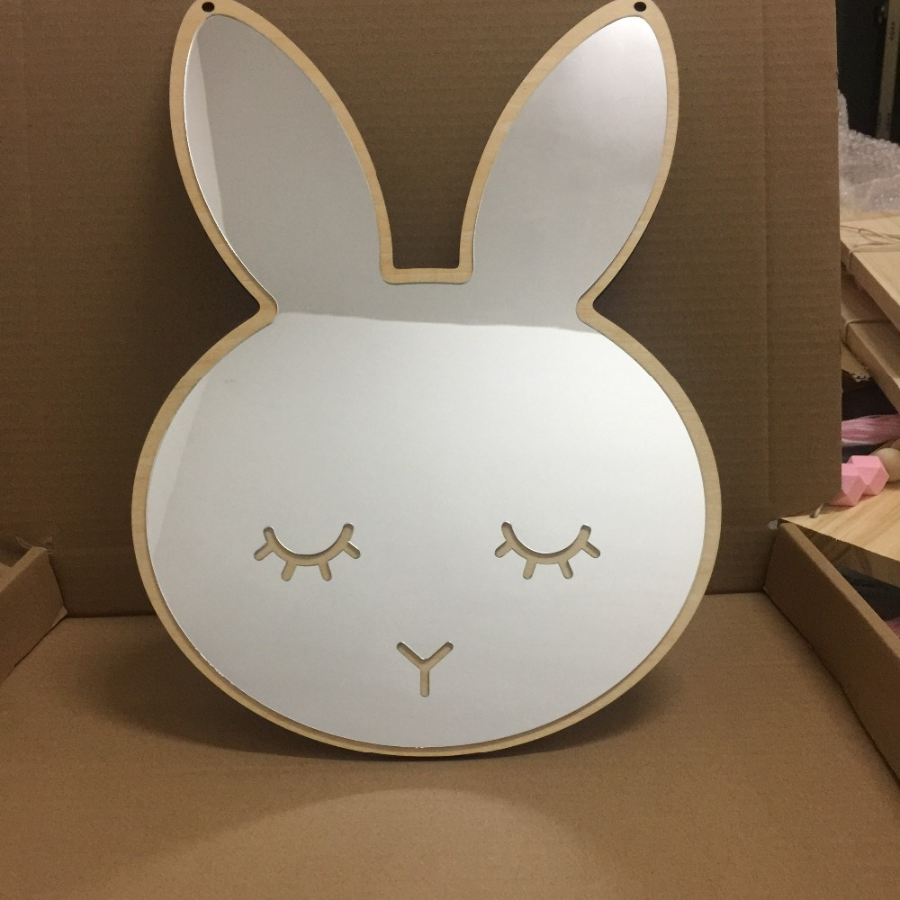 Home Furnishing wall decor mirror for baby room Children's creative decoration bunny wall mirror  home with mirror | Ailee – Home (dance practice mirror)  font b Home b font Furnishing wall decor font b mirror b font for baby