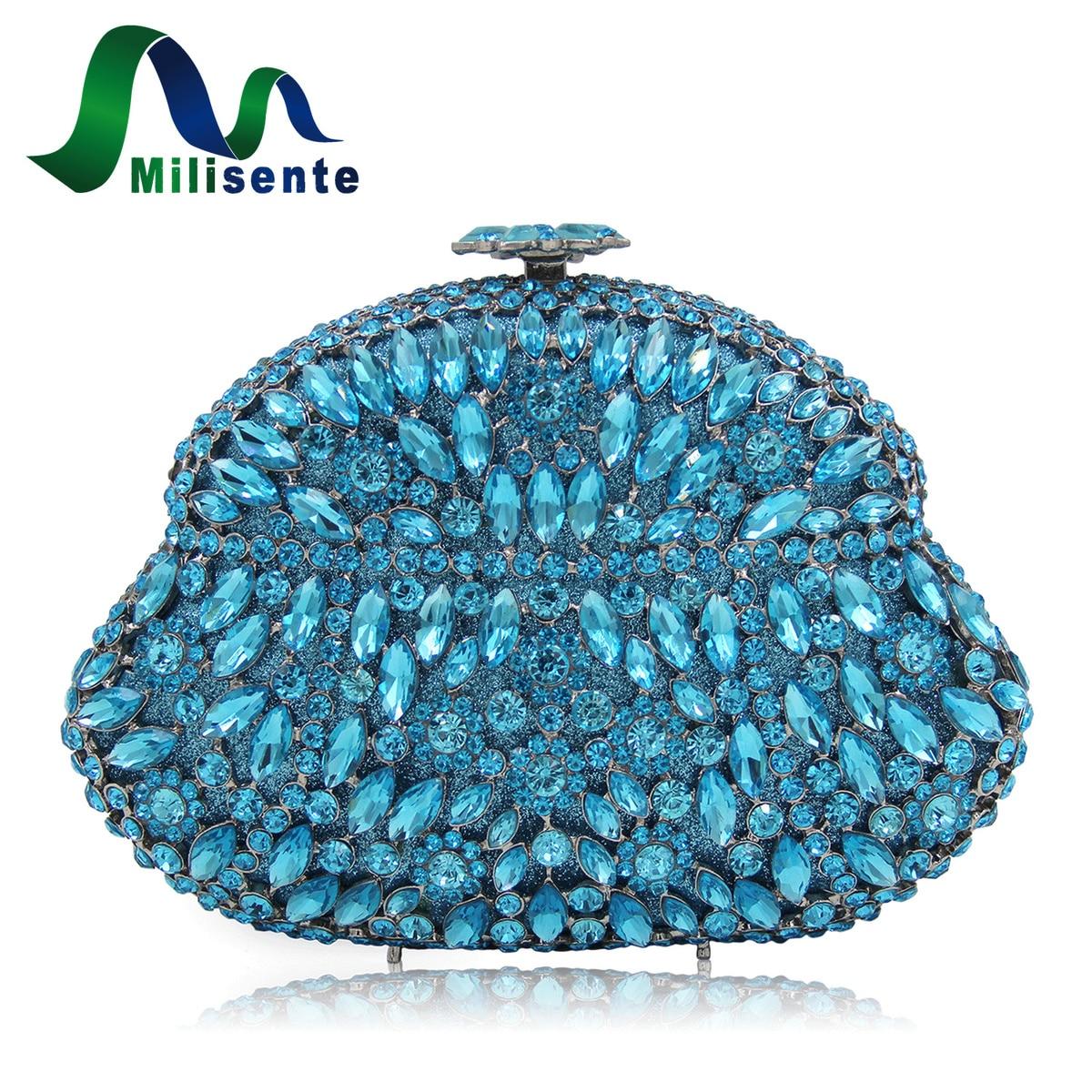 Milisente Women Evening Party Bags Ladies Crystal Clutches Purses Female Wedding Bag ортопедическое изделие sport elite 5101ns суппорт бедра