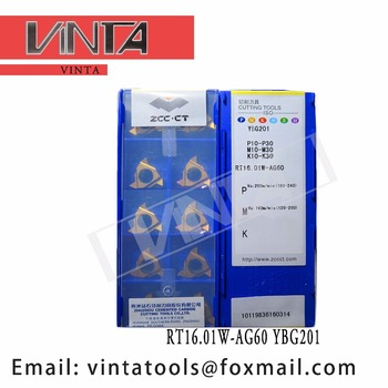 free shipping high quality 10pcs/lots RT16.01W-AG60 YBG201 cnc carbide turning inserts