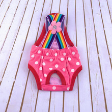 pet dog sanitary pants Washable Diapers Sanitary Dot print pet Rainbow Dog cat Physiological Pants Cotton Breathable Underwear