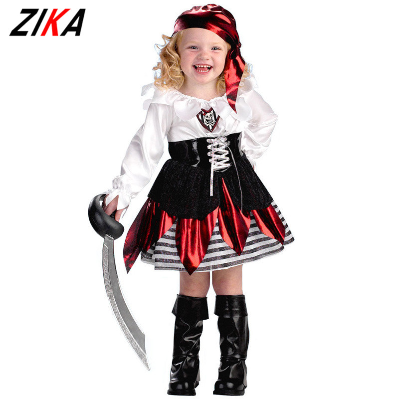 Children's Classic Halloween Costumes girls Pirate Costume Kids Dress Pirate Costume Jack Carnival Clothing Set For Kids k20 halloween party pirate capain jack cosplay boy clothing halloween costume for kids children performance stage costumes