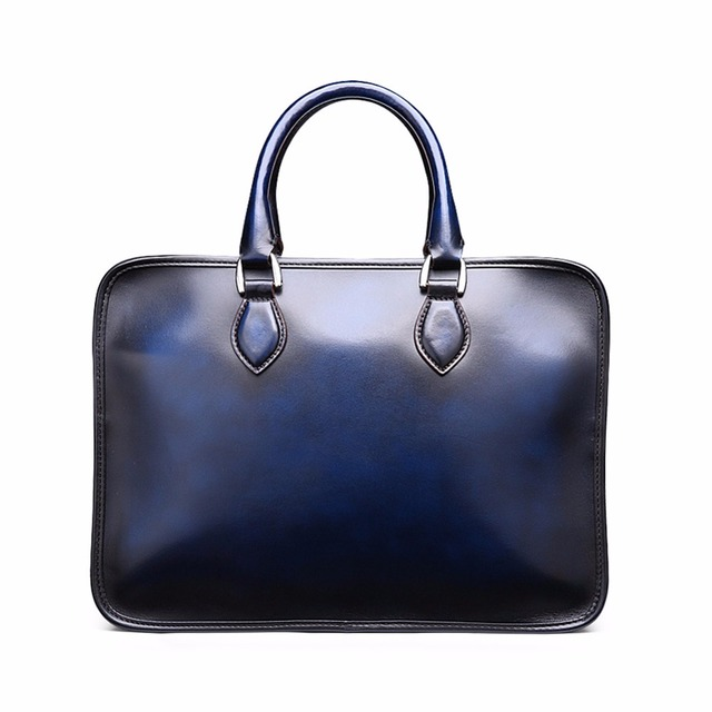 TERSE 2017 Hot Selling Briefcase Handmade Genuine Leather Bag For Men  Luxury Brand Custom Logo 3 Colors f17a015468bc9