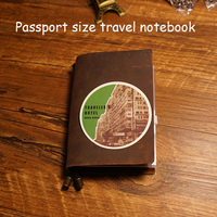 New 2016 100 Genuine Leather Case Travel Journal Notebook 4 Inside Page Diary Spiral School Supplies