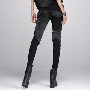 Image 3 - TWOTWINSTYLE Denim Pant For Women Patchwork Pocket Zipper Plus Size Pencil Jeans Spring 2020 Female Fashion Harajuku Clothing