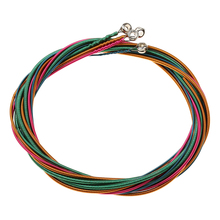 цена на Set of 4 Pieces Colorful Bass Strings G/D/A/E Nickel Alloy for Bass Guitar Accessory Musicians Gift