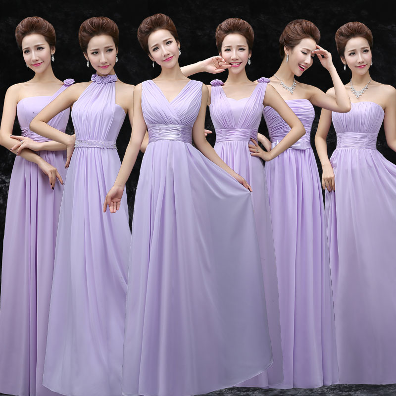 2015 light purple bridesmaid clothes bridesmaid dress long design ...