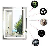 FR отправить 600*800 мм Новый стильное зеркало в ванную комнату светодиодный свет водостойкий настенный с подсветкой зеркало с подсветкой дина
