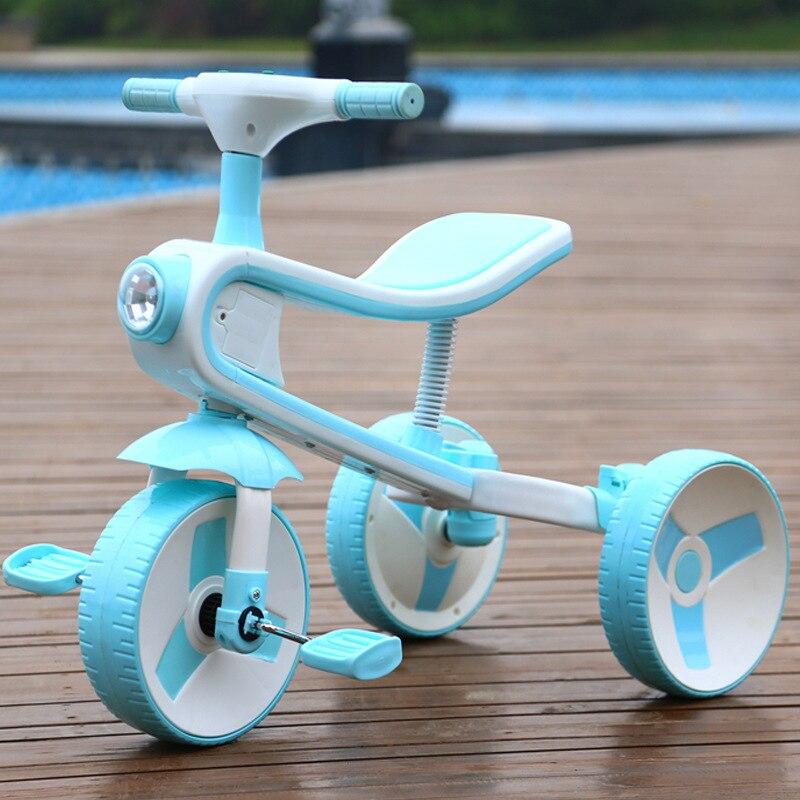 Nouveau Réversible Enfants de Tricycle Vélo 2-6 Ans Grand Scooter Enfants de Vélo Pliant Une Voiture Double -utiliser Tour Jouet De Voiture