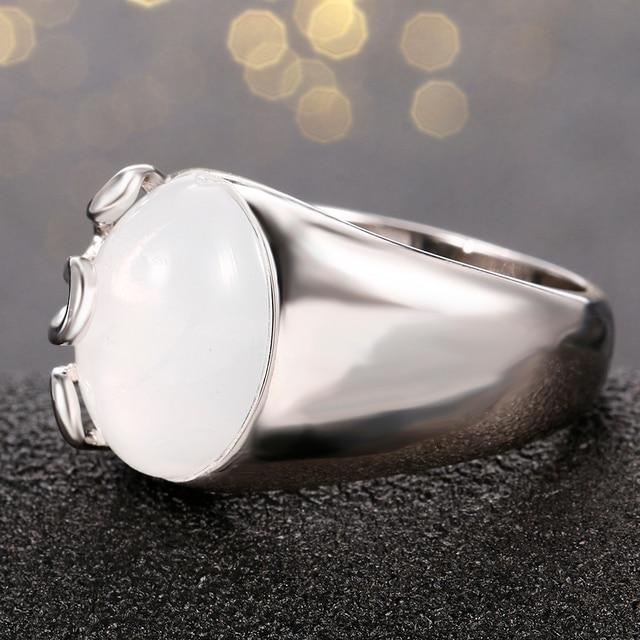 925 Silver Original OVAL RAINBOW MOONSTONE BESTSELLER RING 3