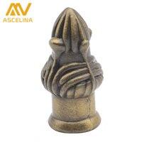1ps European Long Flower Beauty Nut Nylon Lock Nuts Thread Insert Brass NUT Dowel Screws Steel