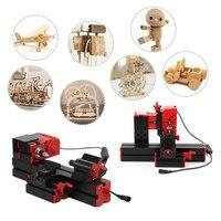 Mini 6 in 1 lathe machine Multi functional DIY Motorized jigsaw Grinder Driller Miller Metal Lathe Wood lathe Machine Tool Kit