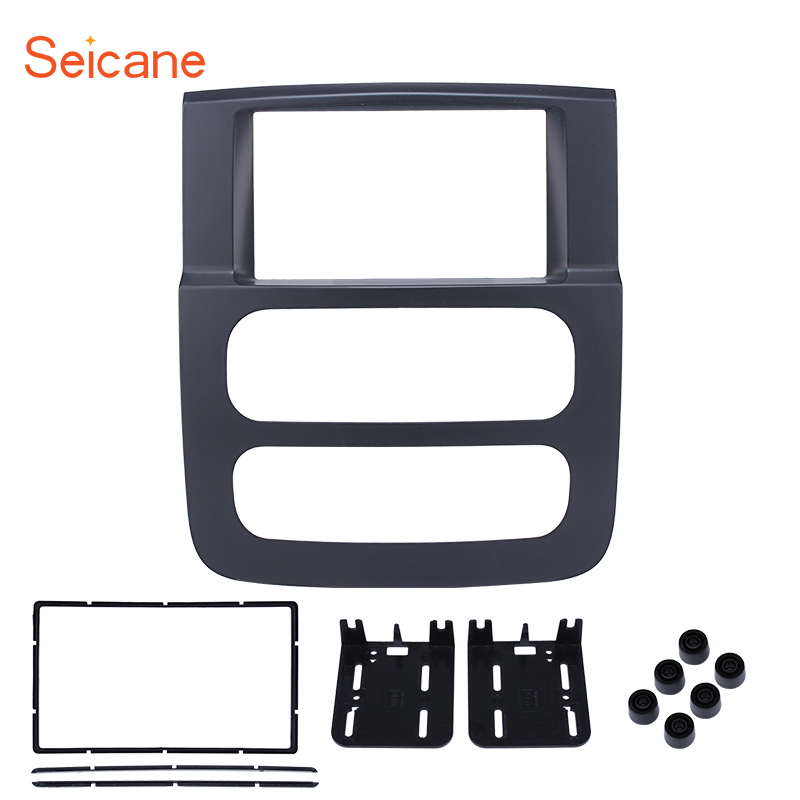 Seicane OEM 2din Car GPS Radio Fascia Frame for 2002 2005 Dodge Ram 1500 2500 3500