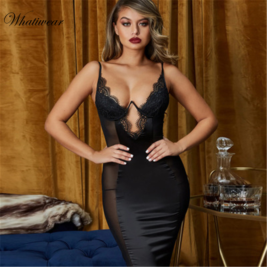 Whatiwear Women's Sexy Lingerie Silk Nightgown Nightwear Satin & Lace Patchwork Padded Chest Sexy Sleepwear Nightshits