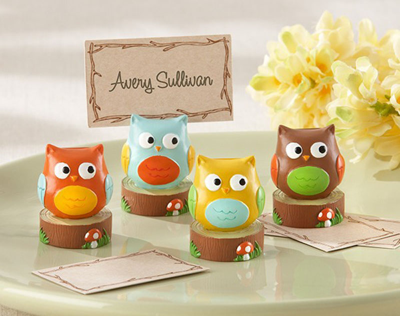 Resin Owl Place Card Holder Baby Shower Gift Wedding Decoration