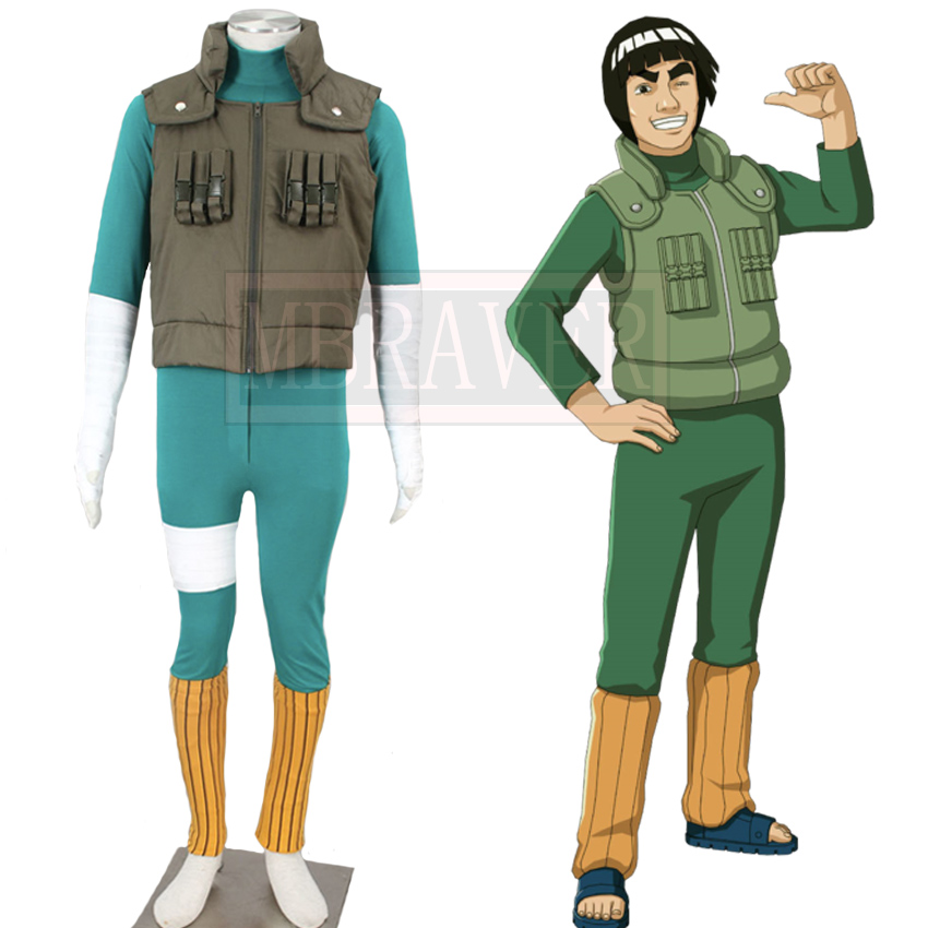 Naruto Maito Gai Might Guy Cosplay Costume Halloween Uniform Outfit Custom Made Any Size