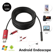 Endoscope 8mm USB Endoscope Android 5M 10M OTG PC USB Endoscopio Mini Endoscope Camera 720P Inspection Waterproof Phone Camera
