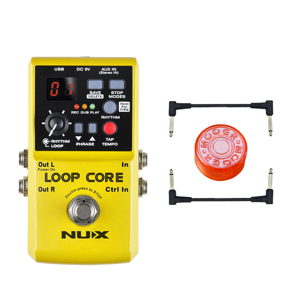 NUX Loop Core Guitar Effects Pedal Looper Pedals Looping Station 6 Hours Recording Time Built-in Drum Patterns Free shipping 806r 172 524 021 средняя