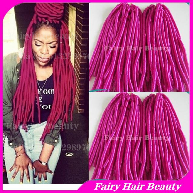 New Dreads 15 Folded Hot Pink Color Kinky Twist Synthetic