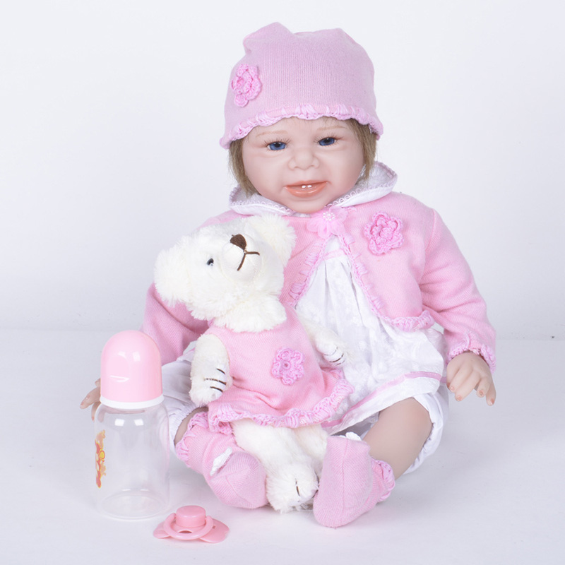Reborn Babies Silicone Handmade Cloth Body Reborn Babies Dolls for Girls Toys for Children Girls Gifts SB5535 Reborn Baby Girl