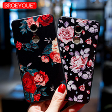 ФОТО broeyoue case for xiaomi redmi 4x 4a 5a 5 plus note 4x note 5a 5 pro global 3s 3d relief flowers tpu case for xiaomi 5x 5s 6 6x