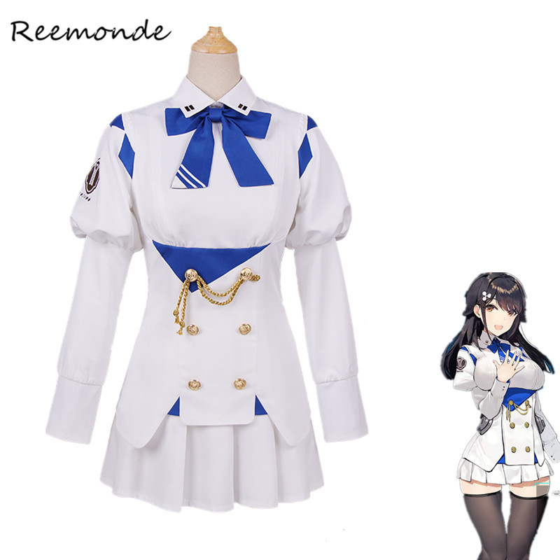 Anime Games Azur Lane Chokai Cosplay Costumes In Women Girls Combat Wind Navy School Uniform Game Cosplay Halloween Carnival