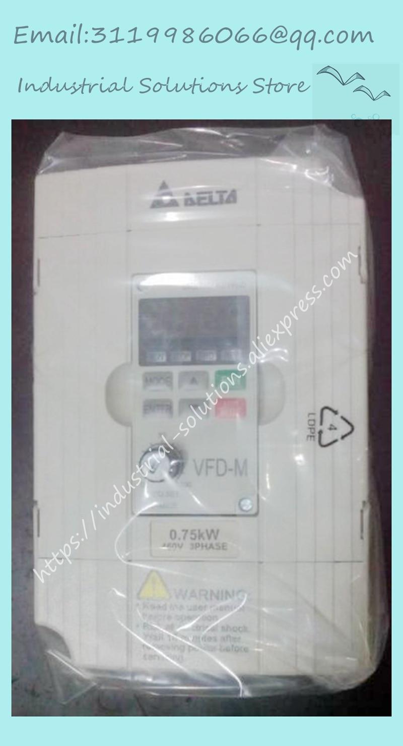 VFD007M43B 0.75KW 380 V caja de nuevo AC motor VFD-M inversor