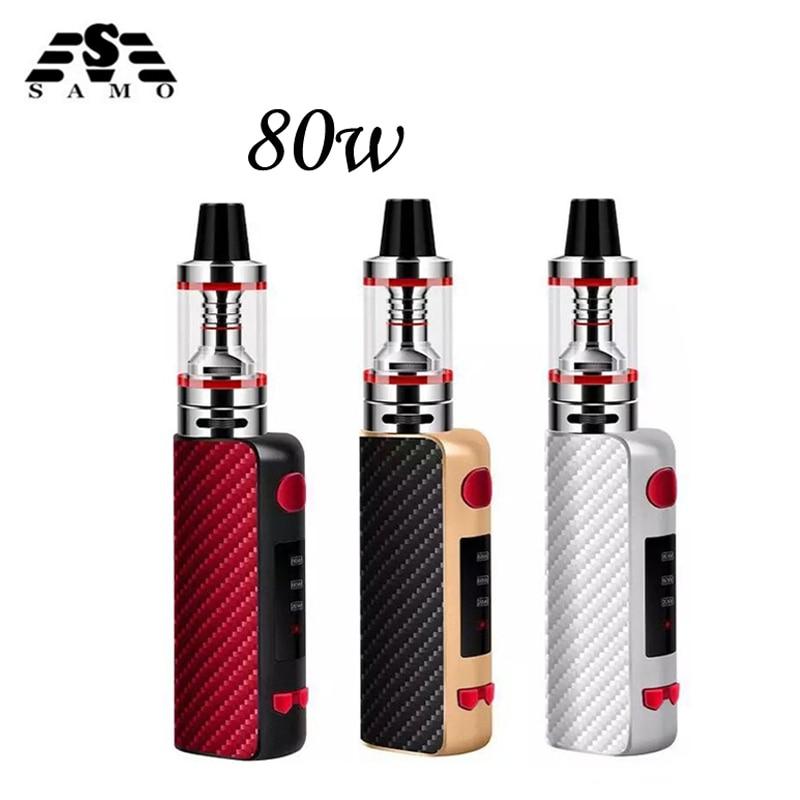 NUOVO 80 w sigaretta elettronica mod box kit 2.5 ml serbatoio 0.3ohm fumo vape penna narghilè mini e-sigarette vaporizzatore e sigara vaper