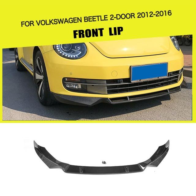 Carbon fiber Car Front Lip Spoiler Bumper Protector for Volkswagen Beetle 2 Door 2012-2016  sc 1 st  AliExpress.com & Carbon fiber Car Front Lip Spoiler Bumper Protector for Volkswagen ...