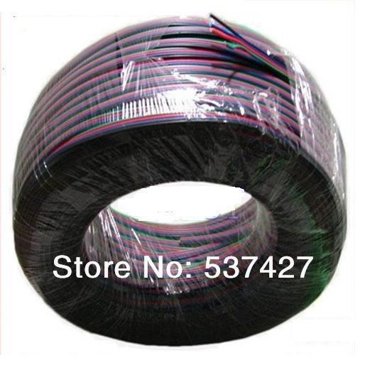 RGB Кабель-Удлинитель Провода Кабель 4 Контактный для Цвета RGB LEDStrip Освещения и т. д., 100 М/лот