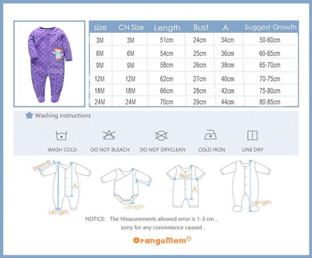 Orangemom عيد الميلاد الربيع الخريف ملابس الطفل الوليد لينة الصوف السروال القصير 0-24m الرضع بذلة الطفل الكرتون ازياء منامة 5