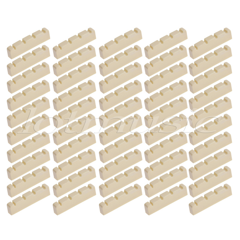 Bass Guitar Nut for 4 String Jazz Precision P Bass Guitar Parts Replacement 42mm Pack of 50 2pcs gold plated wired control plate for jazz bass replacement parts