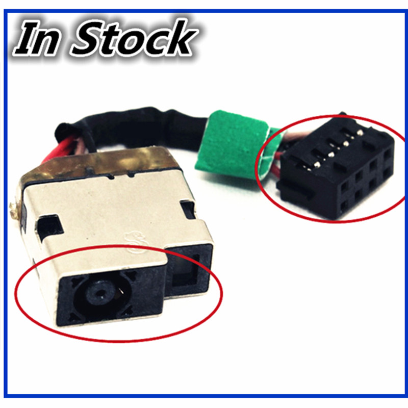 For HP Elitebook D3H16UT C6Y87UT 8570W US AC DC Power Jack Harness Plug in Cable