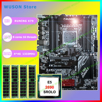 Awesome computer hardware supply brand new Runing gaming X79 motherboard Intel Xeon E5 2690 C2 2.9GHz RAM 16G(4*4G) DDR3 REG ECC