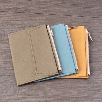 50 Pieces / Lot Passport Size 130 x 98 mm Canvas Zipper Pocket For Notebook Accessory Olive Green Card Holder Storage Bag 1
