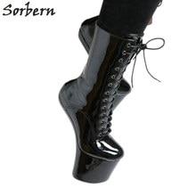 3d31667e2c6afc Sorbern 20 Cm sabot Heelless bottines pour femmes chaussures à plate-forme  Cosplay unisexe Dragqueen