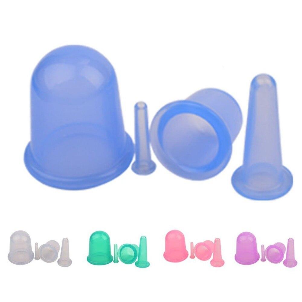 4 peça em massagem gua sha sha tin sucção insípido beleza equilíbrio polegar silicone cupping massagem