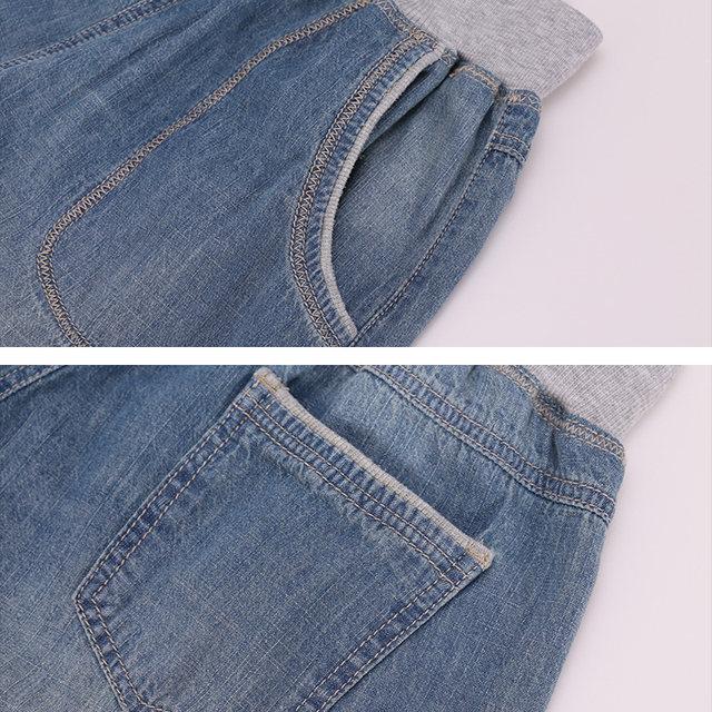 2d026a503b6 2018 LEIJIJEANS Summer Plus Size 2 Color Bleached Elastic Waist Light Wash  Calf Length Cotton Women Loose Stretch Harem Jeans