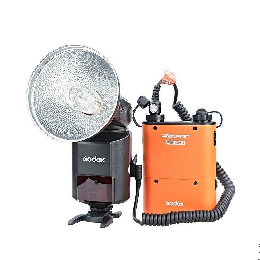 Godox AD360II-C TTL 360W Camera Flash + PB960 Battery Pack for Canon DSLR Camera ( Orange color ) meike mk d750 battery grip pack for nikon d750 dslr camera replacement mb d16 as en el15 battery