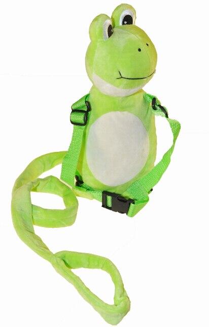 Приятель для того, чтобы держать 2-в-1 Детские накладной Рюкзак Детские поводья для От 1 до 3 лет вокруг - Цвет: Frog