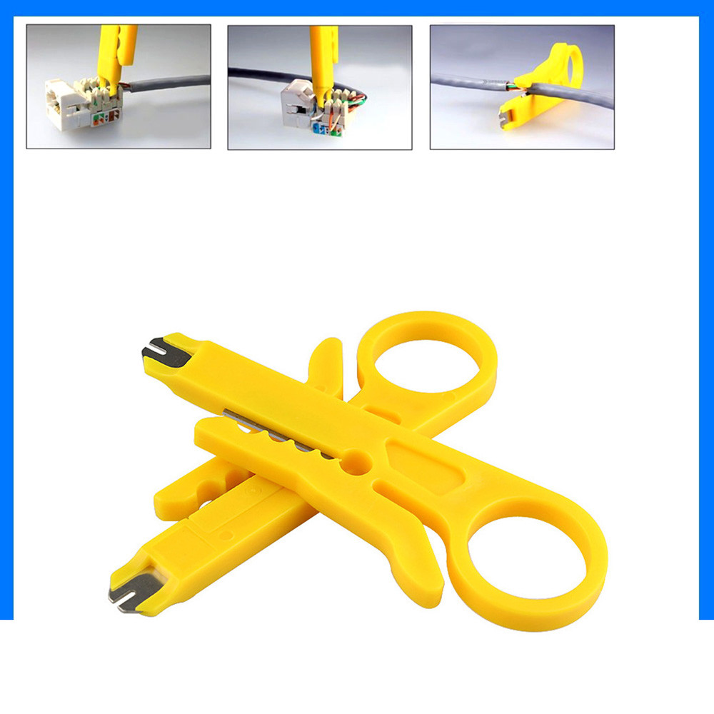 1pc/2pcs Rj45 Cat5 Punch Down Tool Network Utp Lan Cable Wire Cutter Stripper Tool 2018 New Arrival Hot Sale