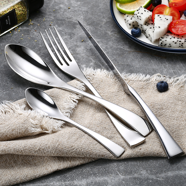 Stainless Steel Silver Dinnerware 24 pcs Set