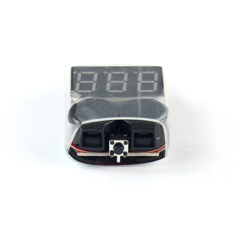 F00872 100 Lipo Battery Voltage Tester Volt Meter Indicator Checker Dual Speaker 1 S 8 S Low Voltage Buzzer Alarm 2in1 2S 3S 4S8S - 2
