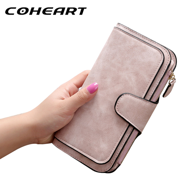 b0783b0174 COHEART Wallet Women Top Quality female wallet leather long purse women big  capacity card holders cellphone bag long Purse !