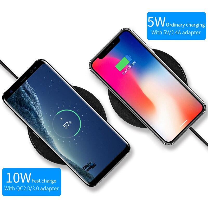 Qi téléphone chargeur sans fil pour iPhone X/XS Max XR 8 Plus support pour téléphone sans fil chargeur pour Samsung S8 S9 Xiao mi mi 9