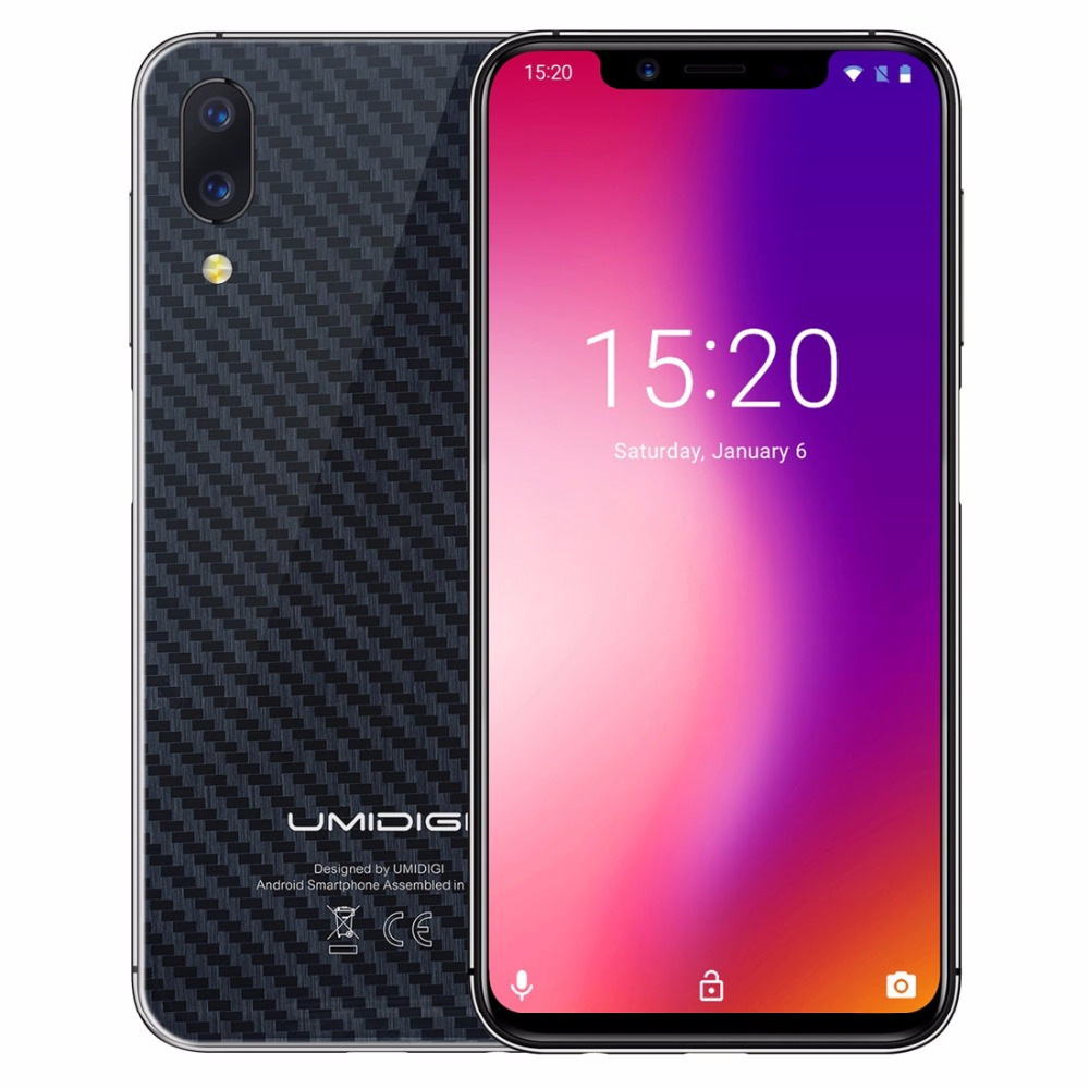 """UMIDIGI One Pro Global Band 5.9"""" Android 8.1 mobile phone wireless charge 4GB 64GB P23 Octa Core smartphone 12MP+5MP Dual 4G NFC"""
