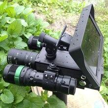 Importado de caza mira telescópica de visión nocturna monocular HD cámara de infrarrojos de alta pantalla LCD 4.3in oscuro dispositivo de visión nocturna 320 M